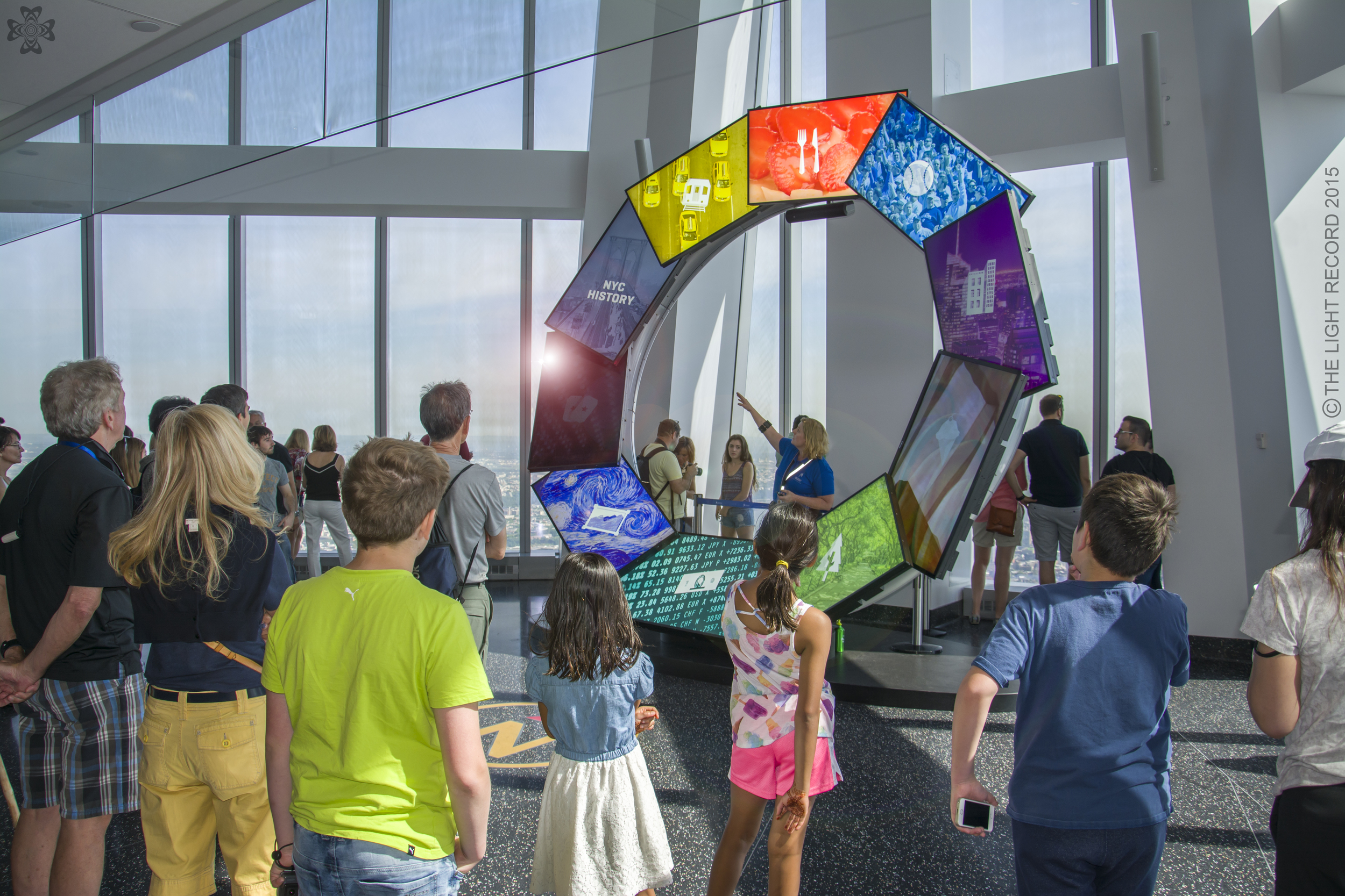 Kids and adults alike soak up facts on a Thursday morning at One World Observatory.