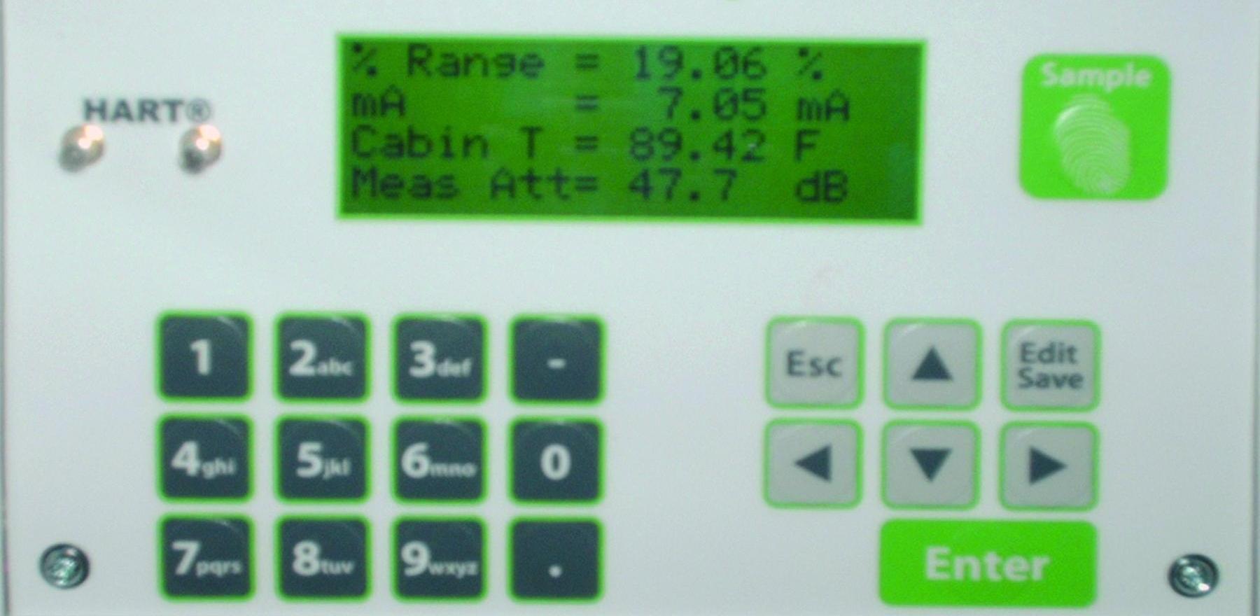 close-up of TS Meter transmitter
