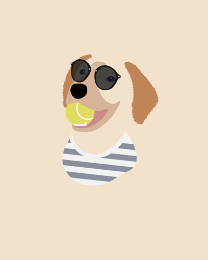 Beach Boy Golden Retriever - Marina