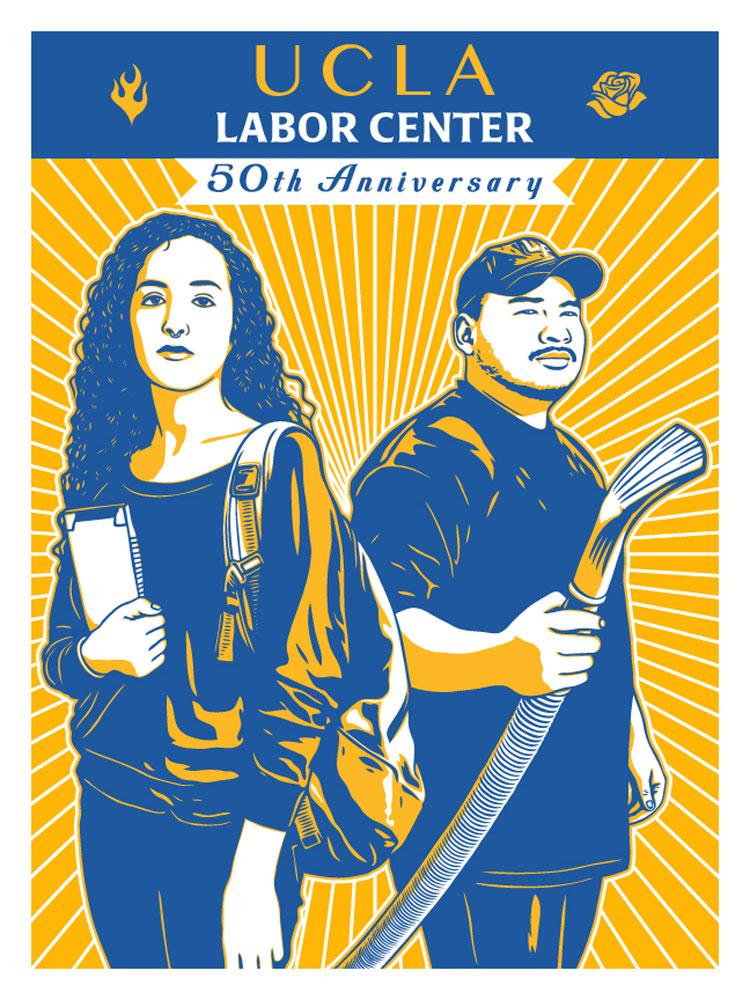 UCLA Labor Center 50th Anniversary Poster