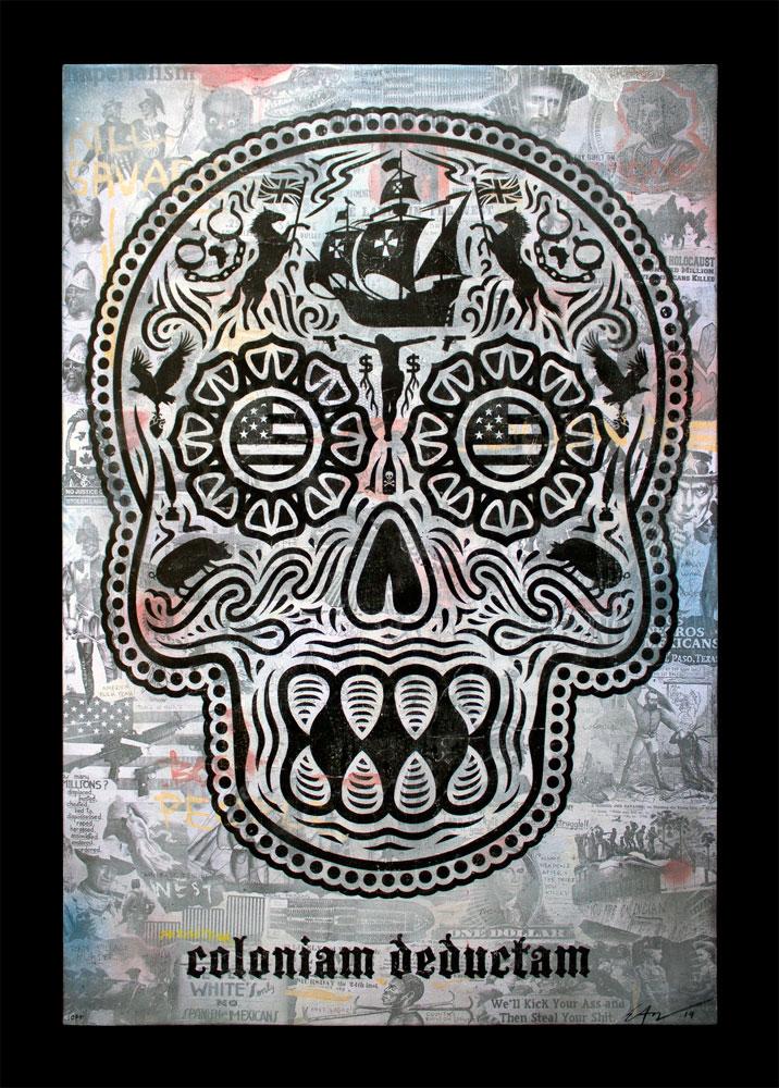 """Coloniam Dedcutam Canvas 2014. 30""""x44"""" Canvas."""