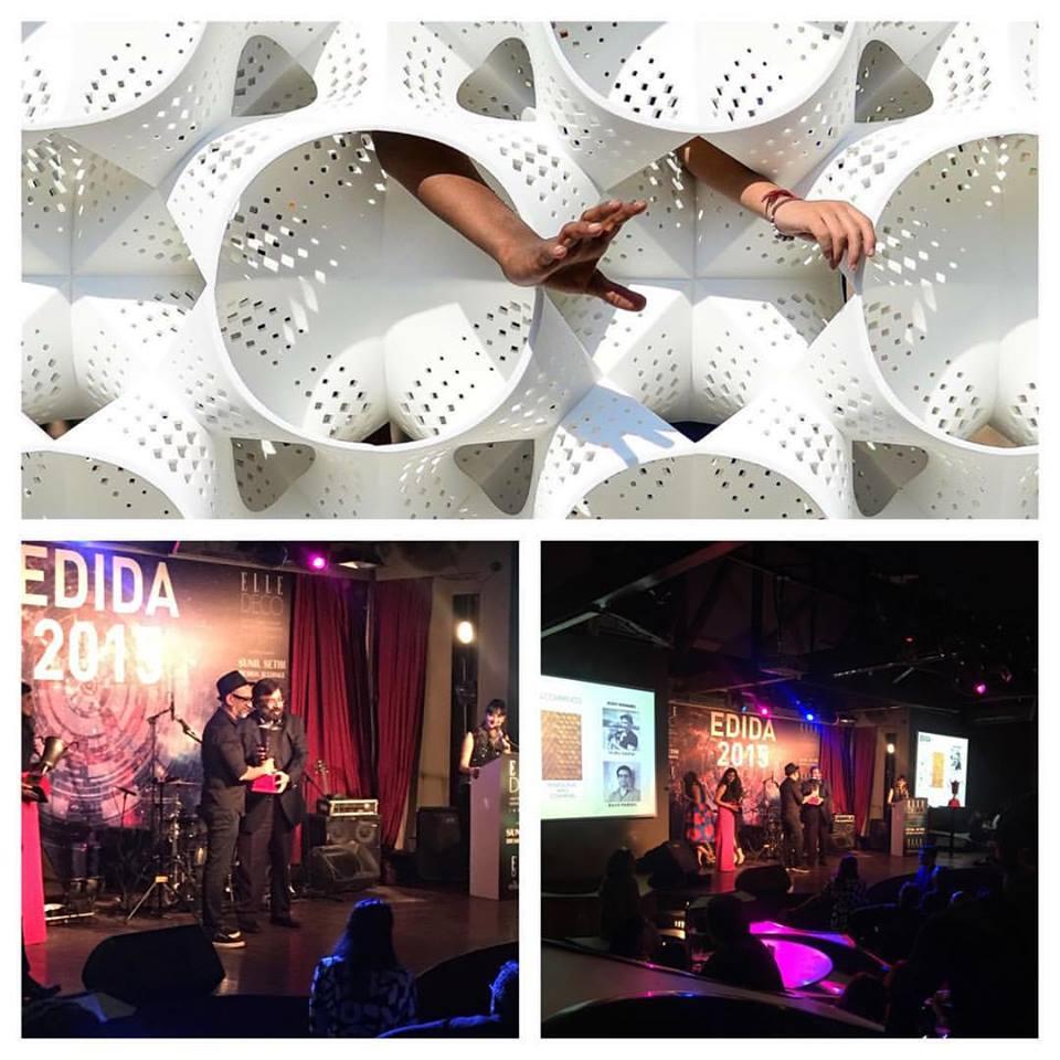 Nuru Karim receives the EDIDA Award 2015 from Harsh Goenka