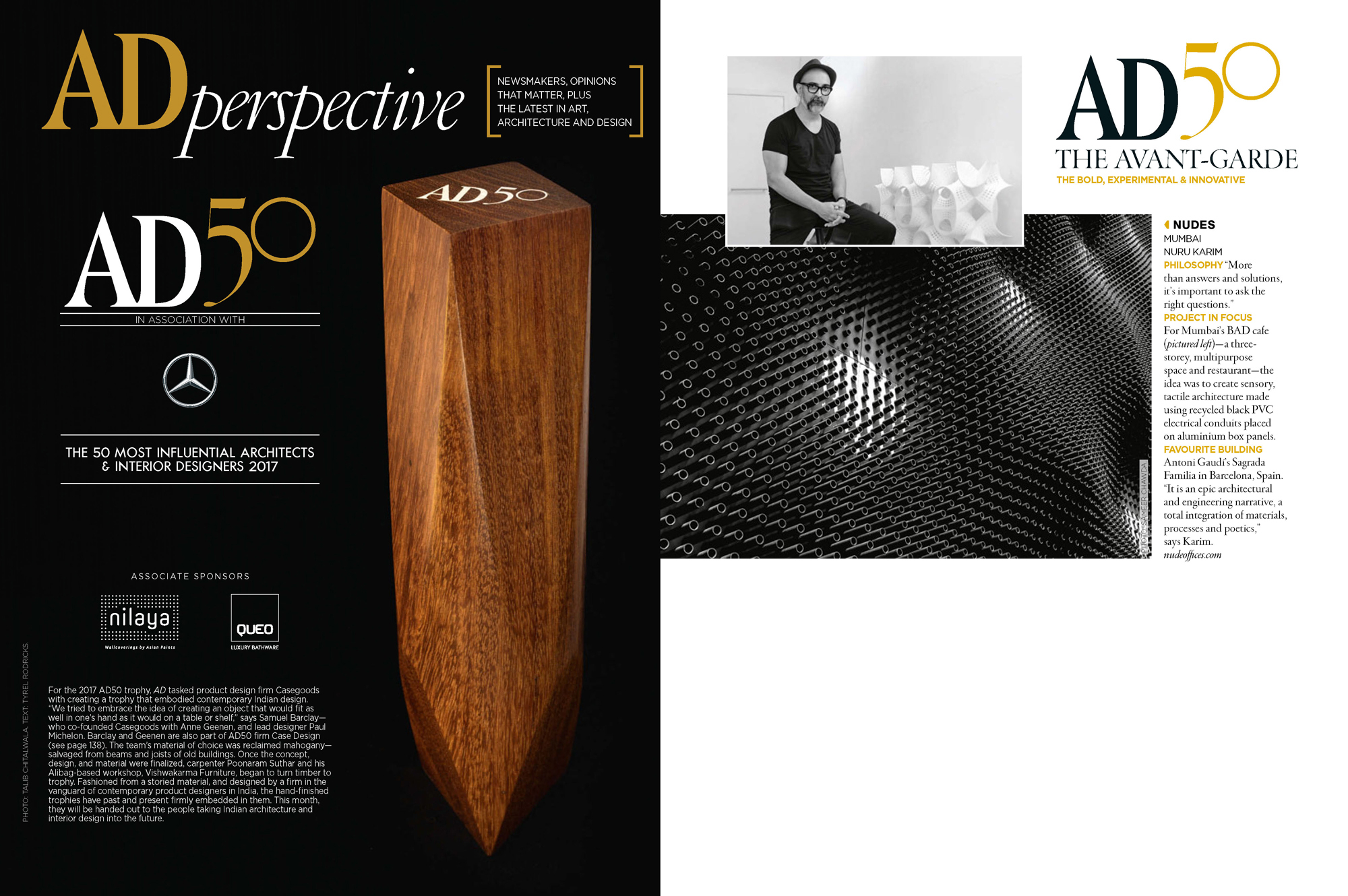 NUDES listed in the Avante Garde category : Top 50 influential architectural design firms in India