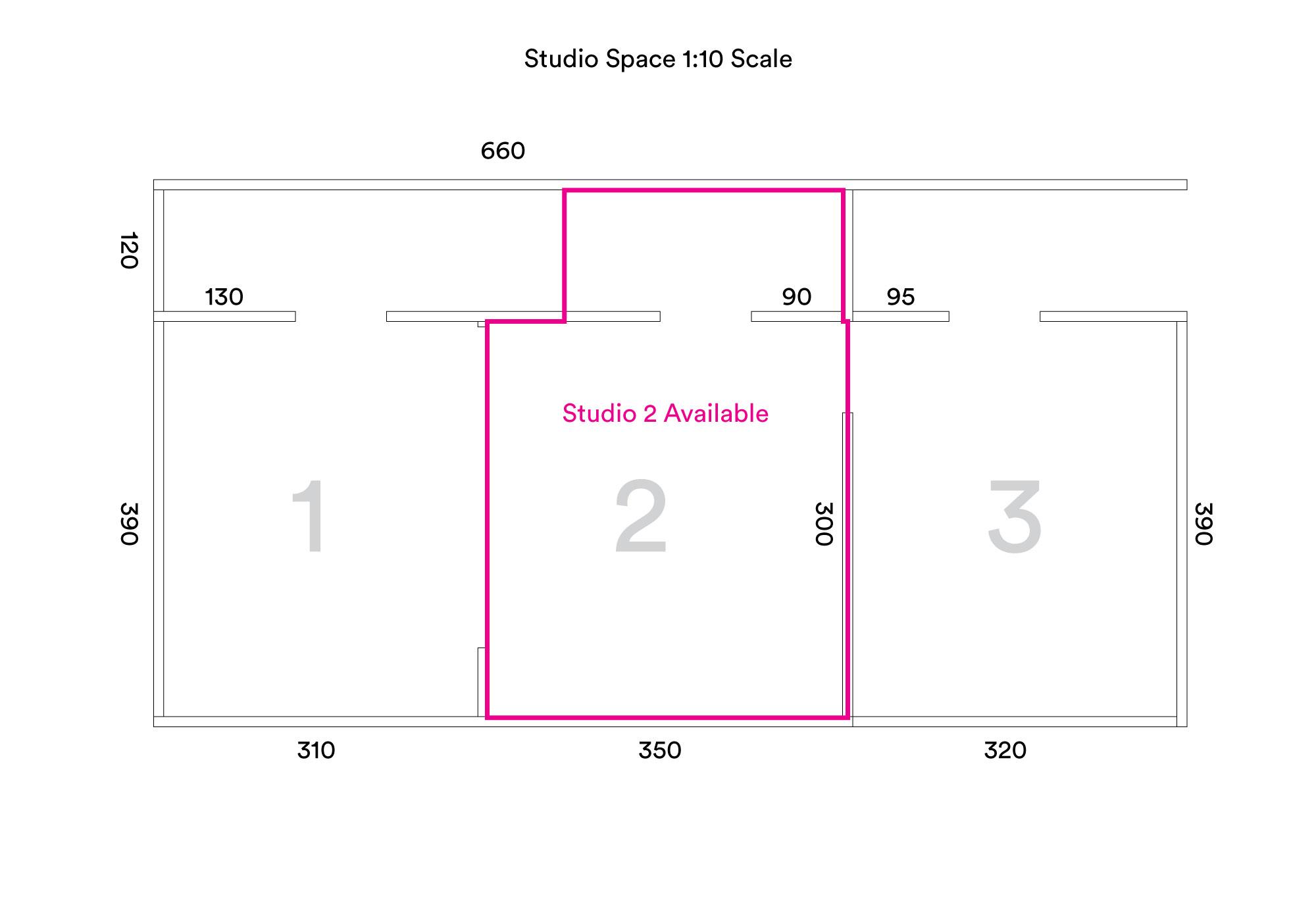 Diagram of Studio Space