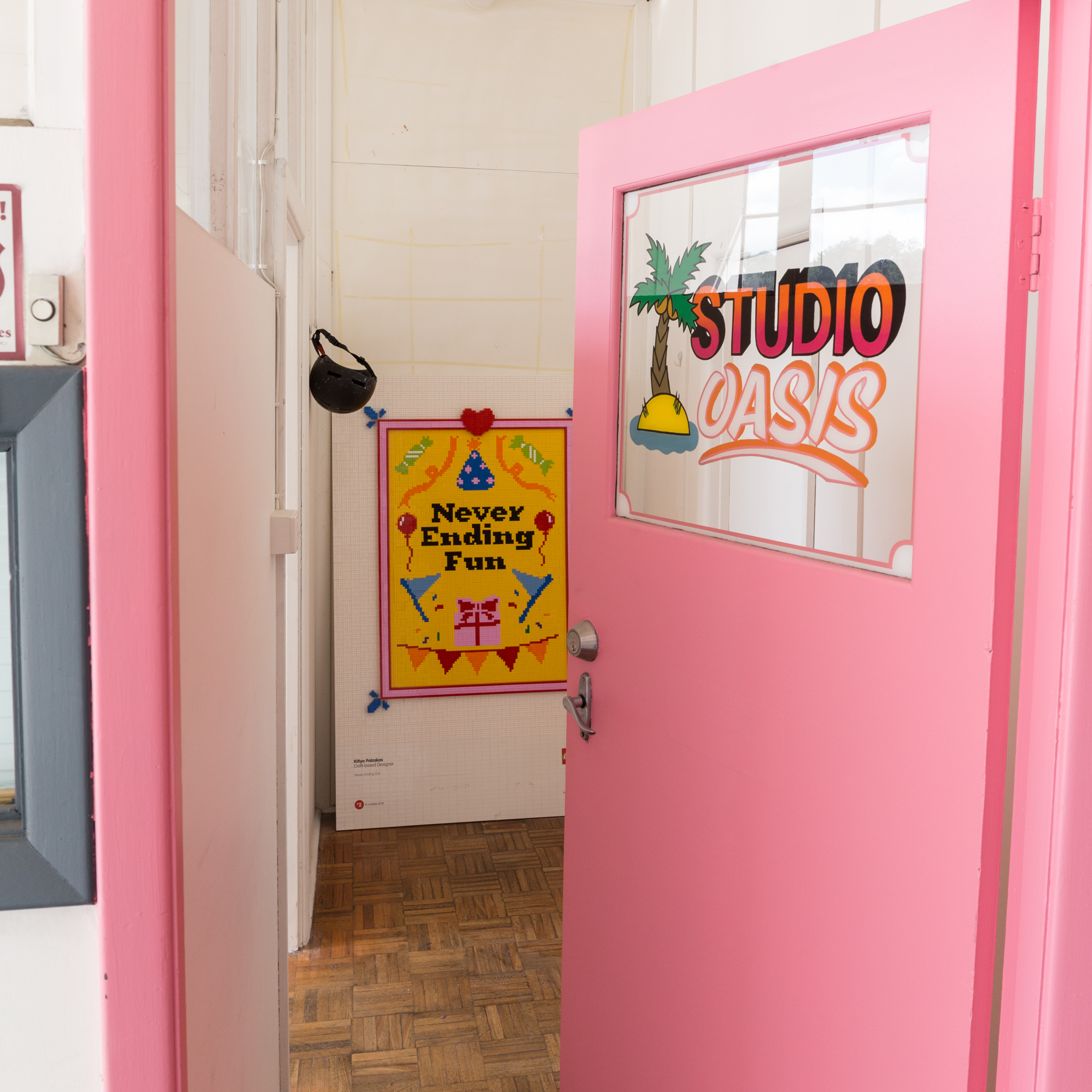 Our studio door!