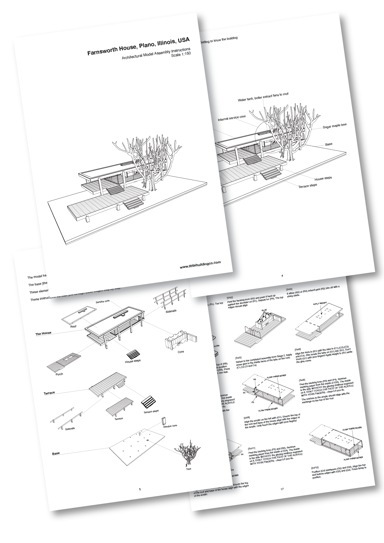 Farnsworth House assembly instructions
