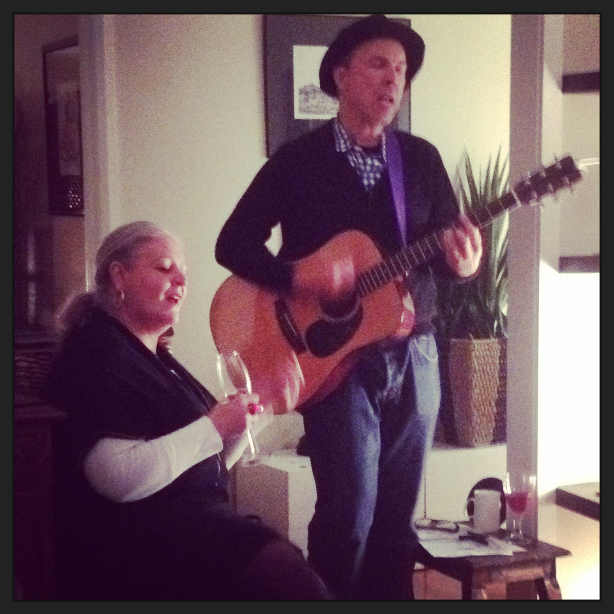 Acoustic house concert for Ursula