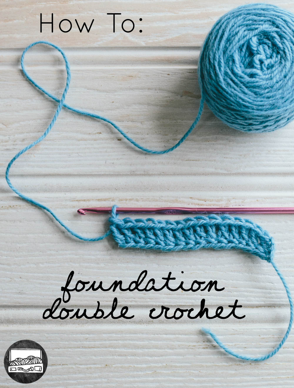 How to foundation UK treble/ US double crochet from Slugs on the Refrigerator