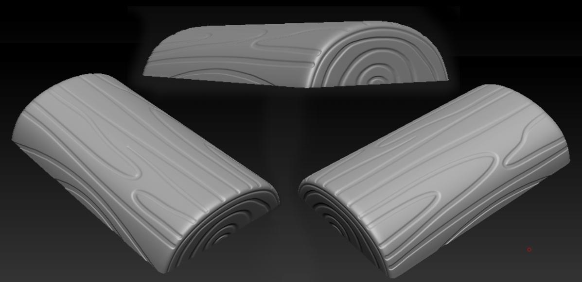 3-D model of the log base