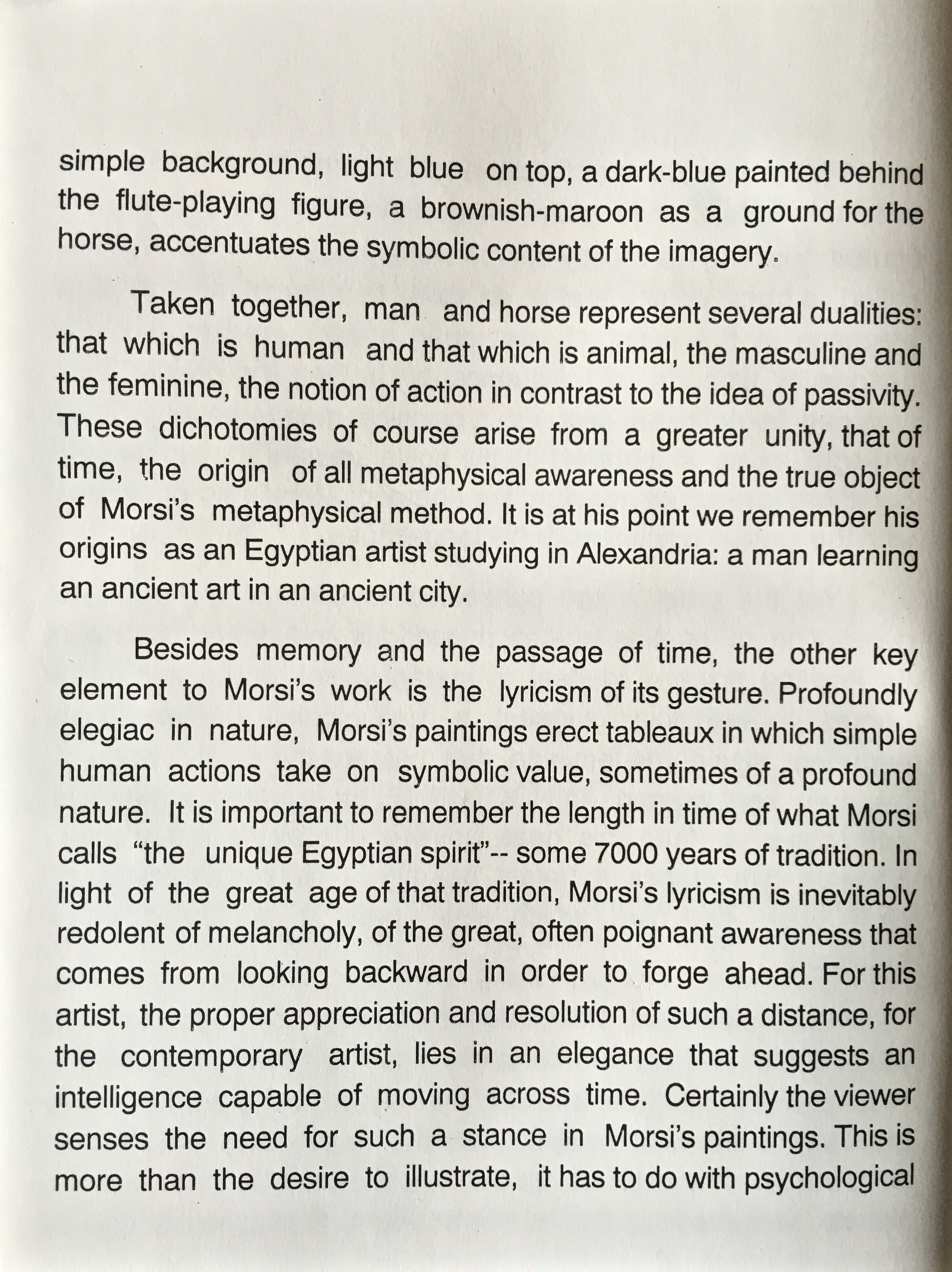 """AHMED MORSI"" Introduction by Jonathan Goodman"