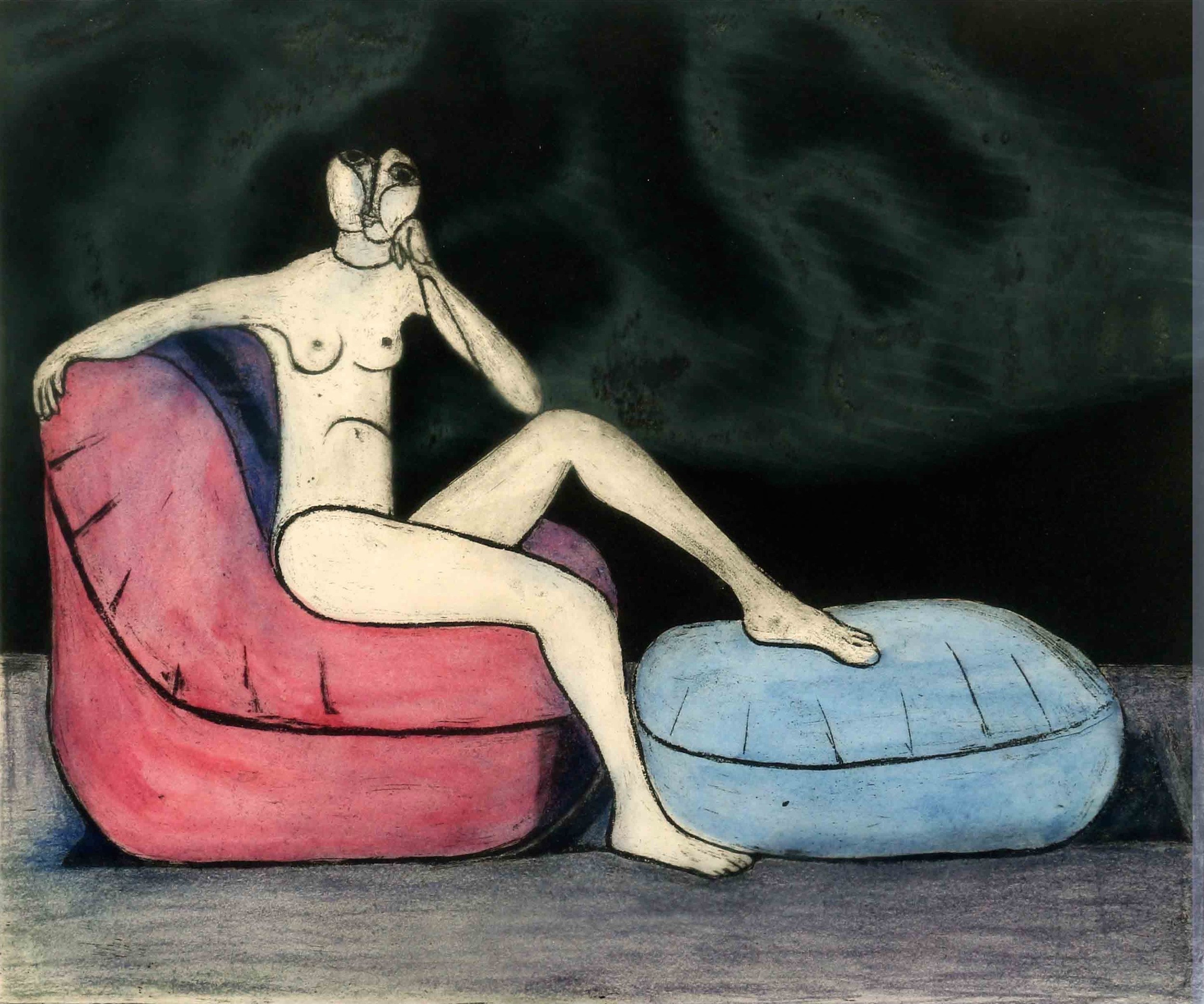 """Seated Nude"""