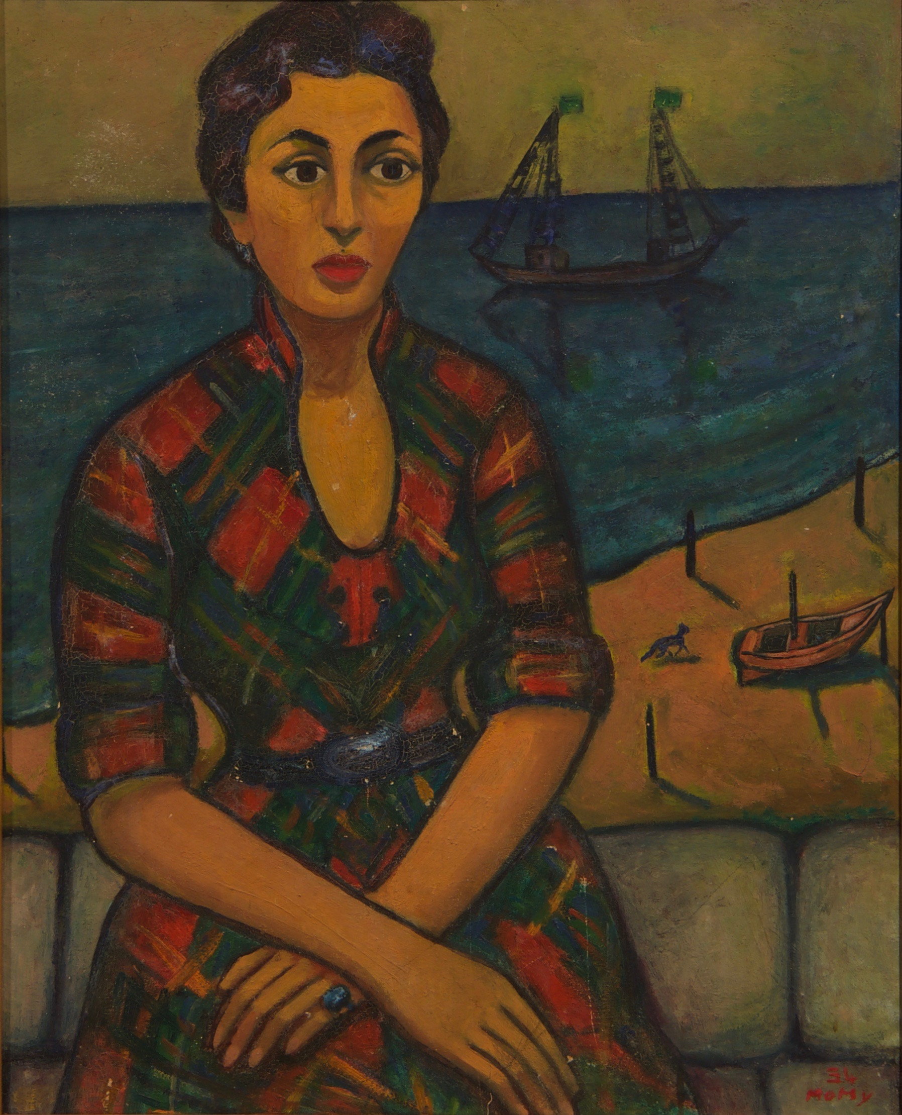 Ahmed-Morsi-Untitled-(Portrait-of-Madam-Traboulsi-II)-1954.jpg