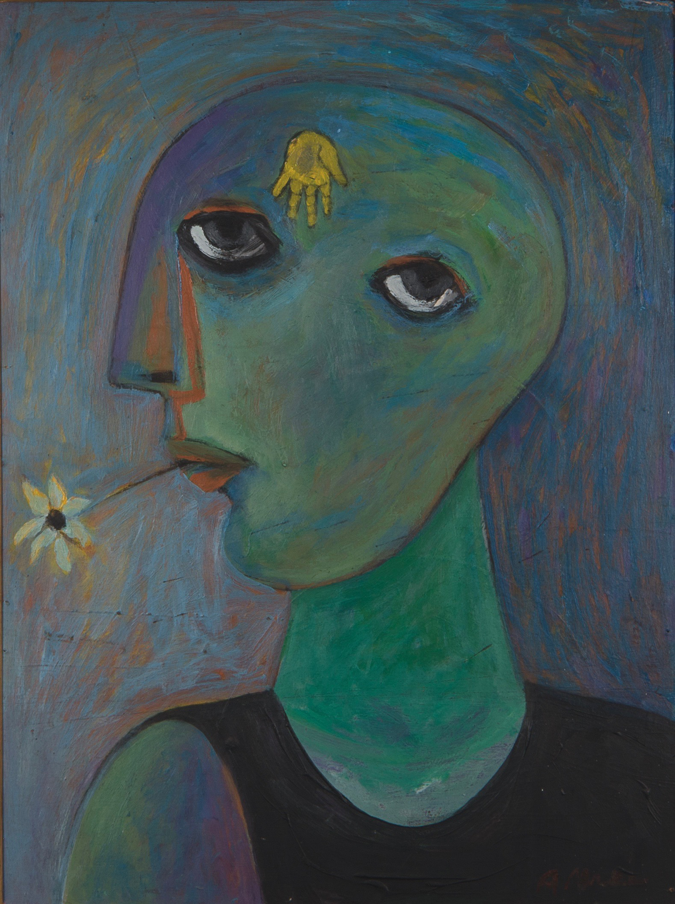 Ahmed-Morsi-Untitled-(Woman's-Head-with-Flower-and-Fatima's-Hand)-1972.jpg