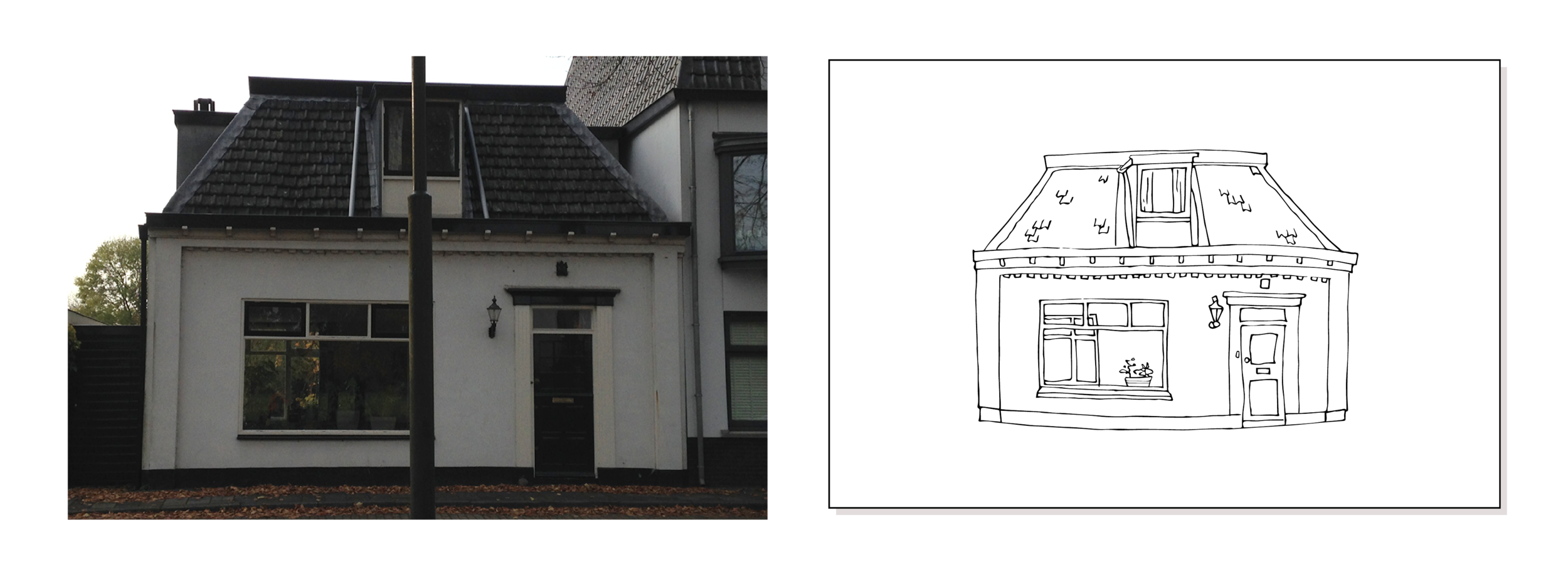 Here is an example of how to take the photo of your house for the drawing.