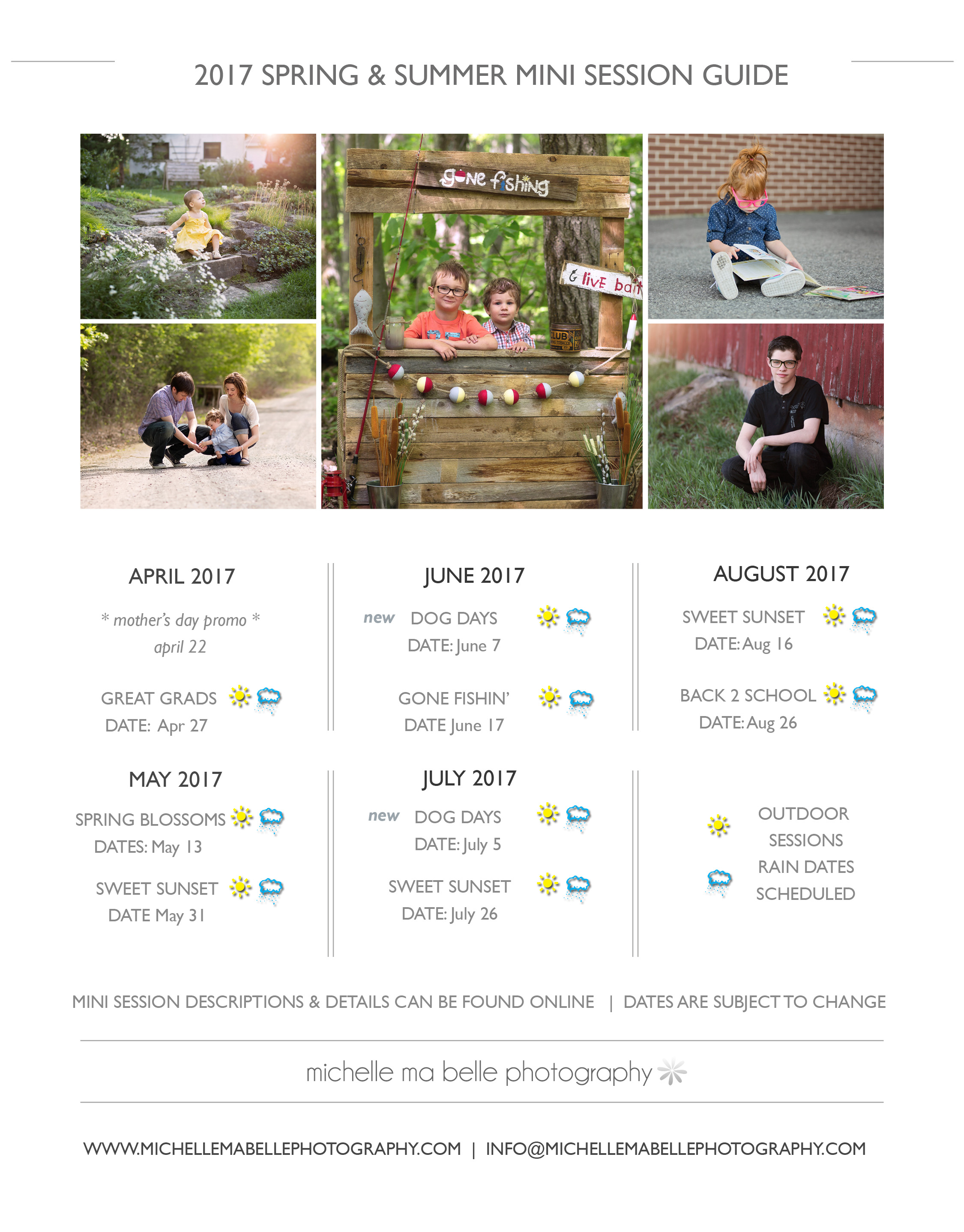 2017 spring and summer mini sessions