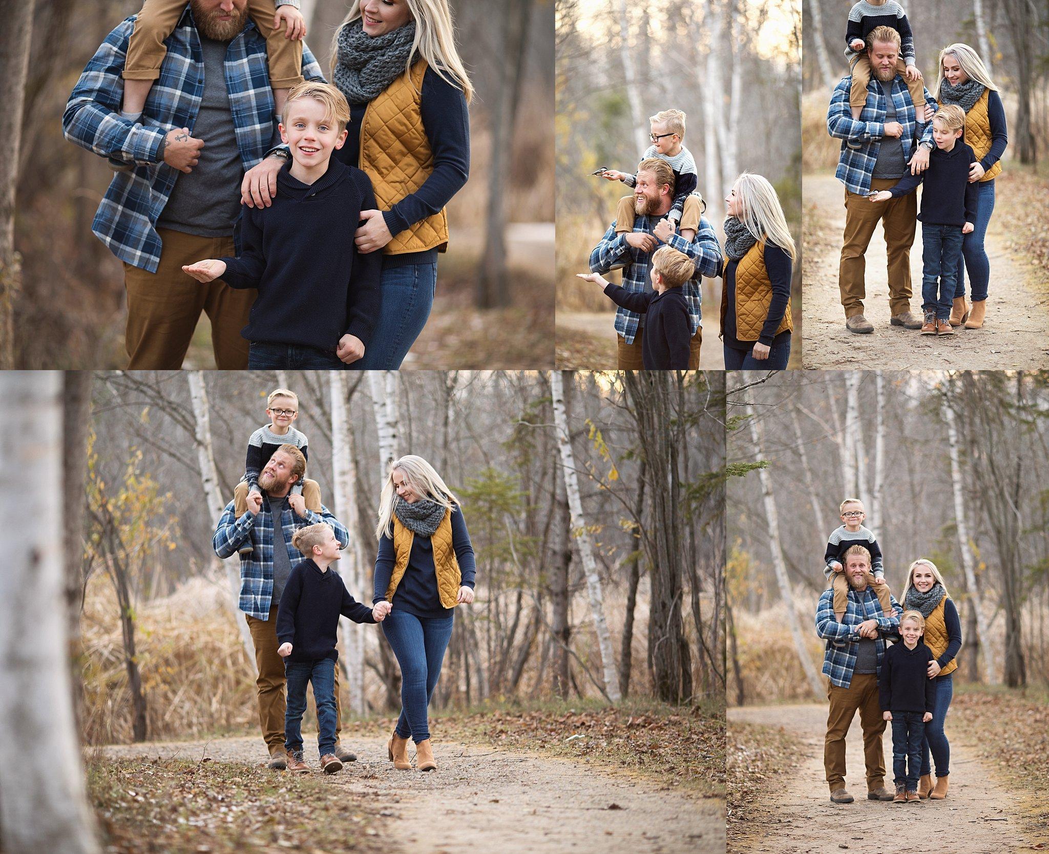 family photos at lime kiln trail