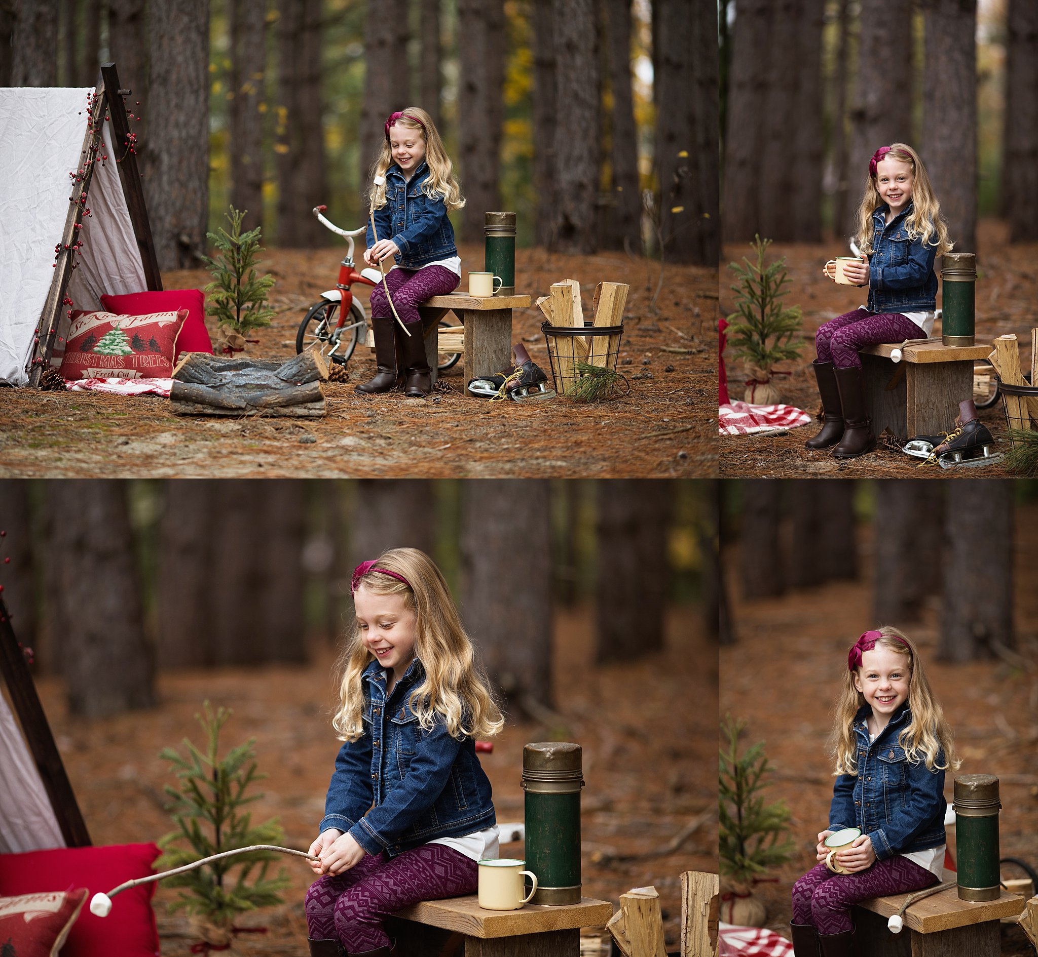 winter camping holiday photos
