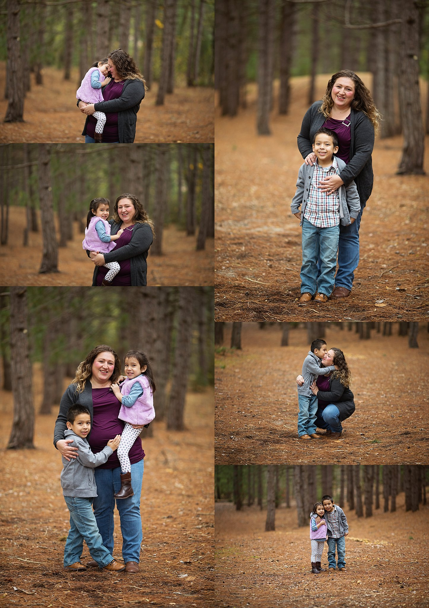 mom and children portraits
