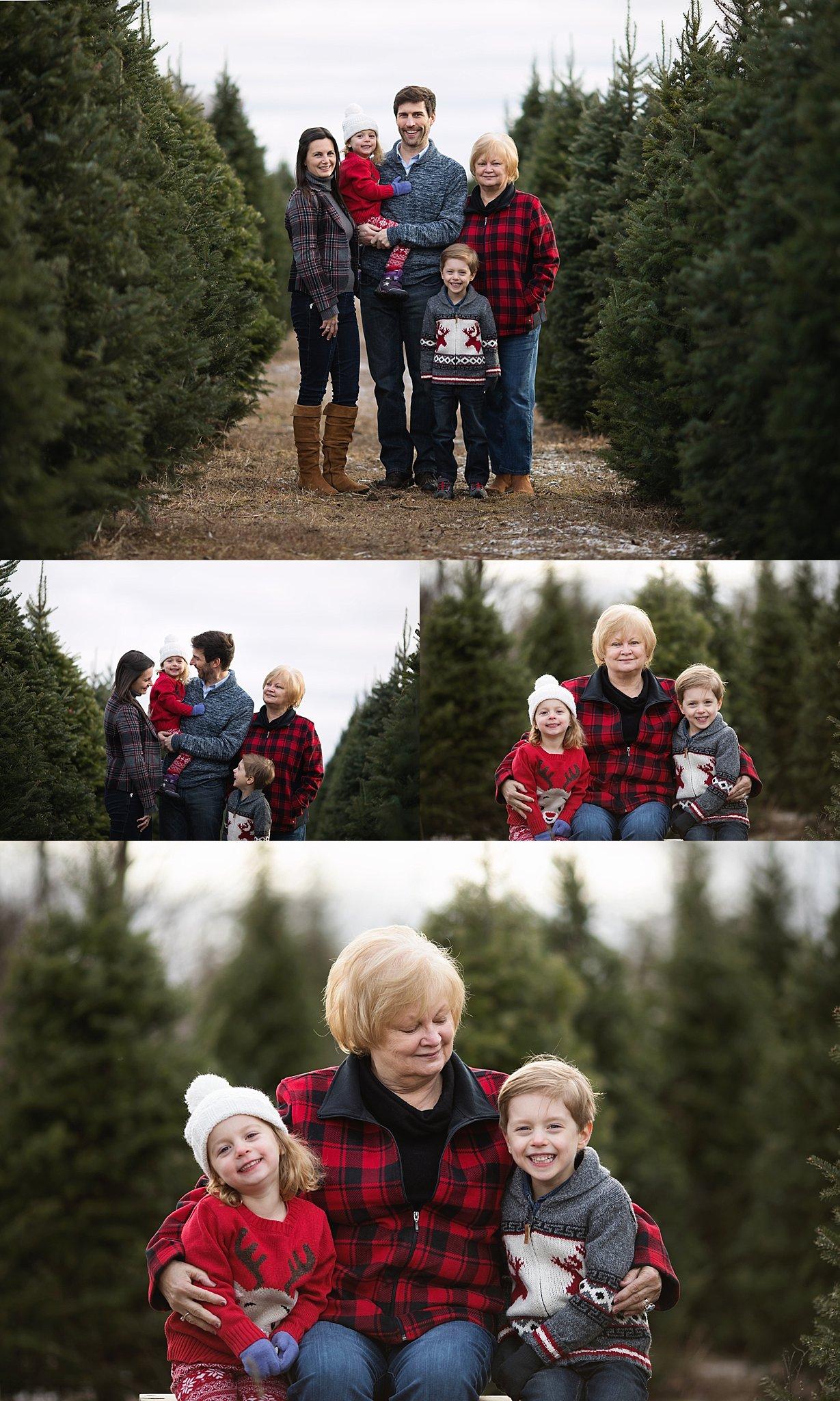extended family portrait tree farm