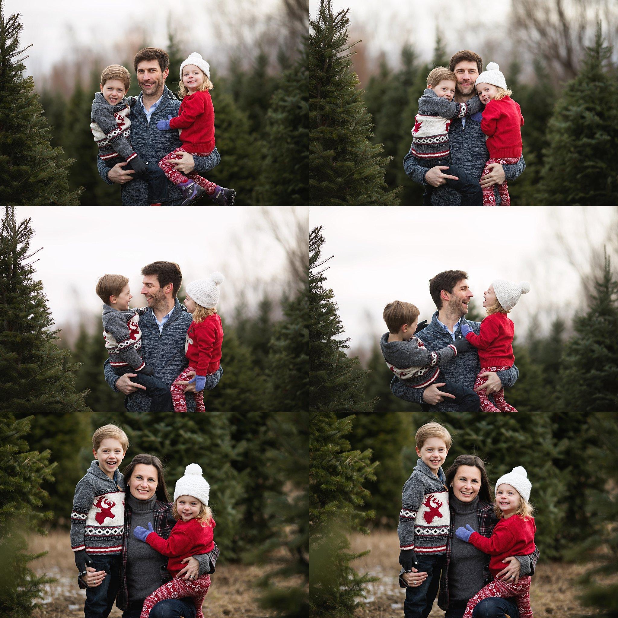 parents with children portraits outdoors