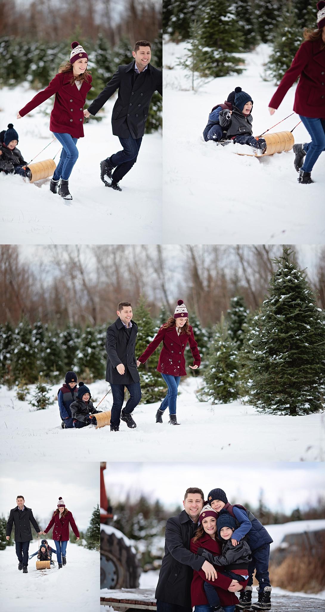 Winter Family Portraits Ottawa