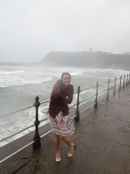 Me & My Pump in Scarborough in the rain