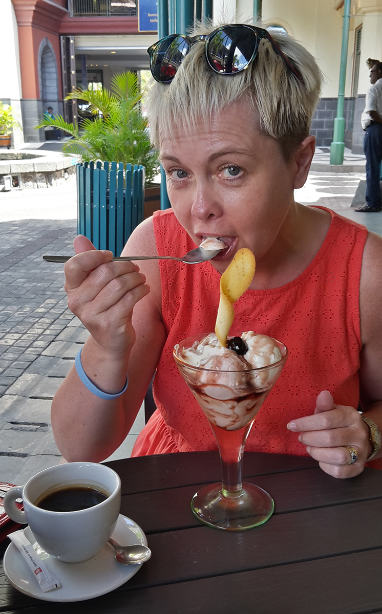Julie Fewkes on holiday in Mauritius