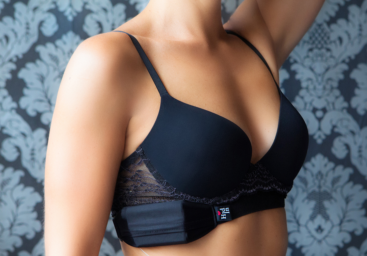 Hid-In Hid-In Multiway Body Band, black, side bra position