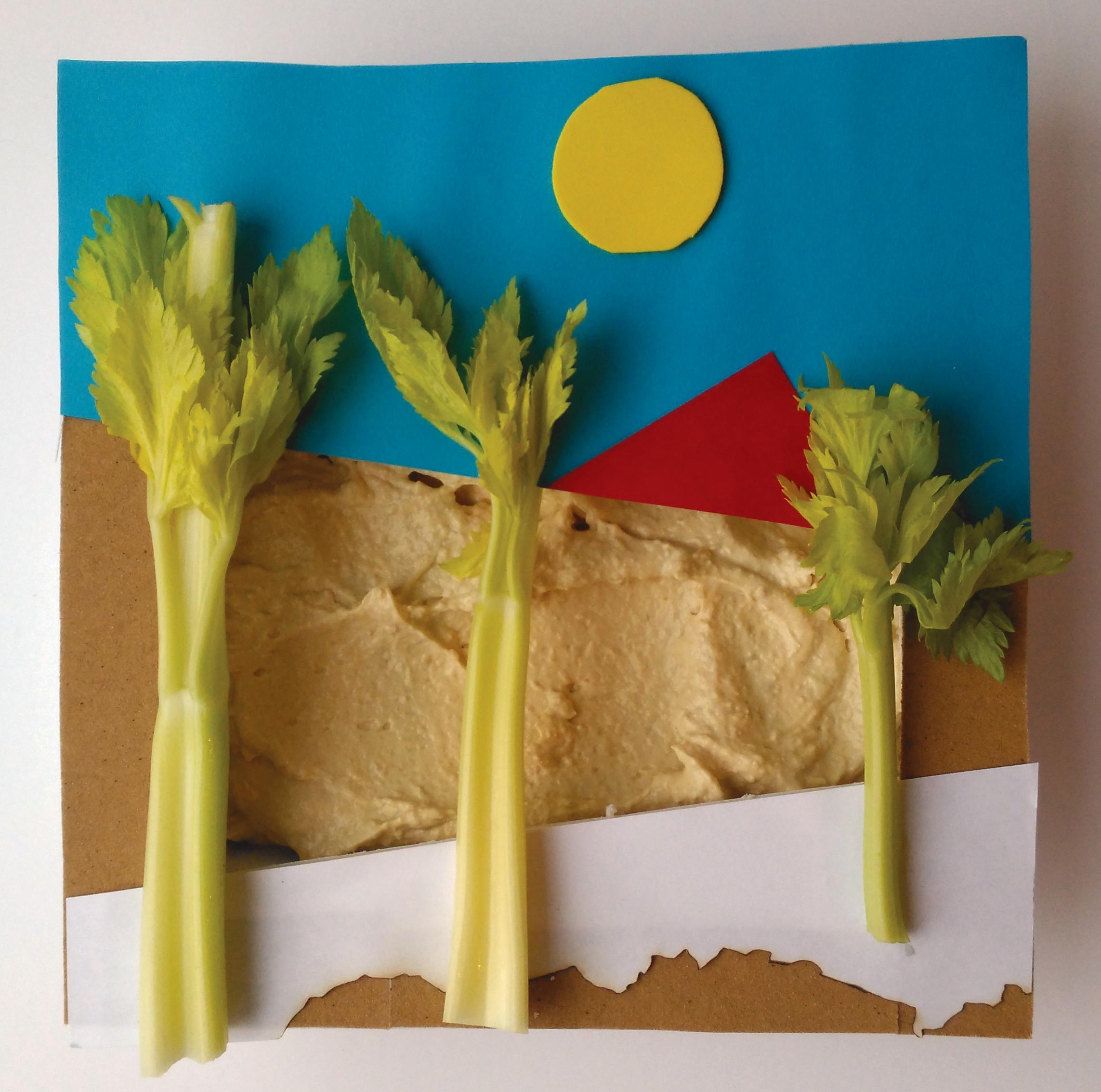 1. Houmous and Celery