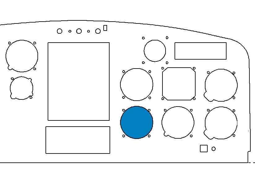 Indicator location on AS350