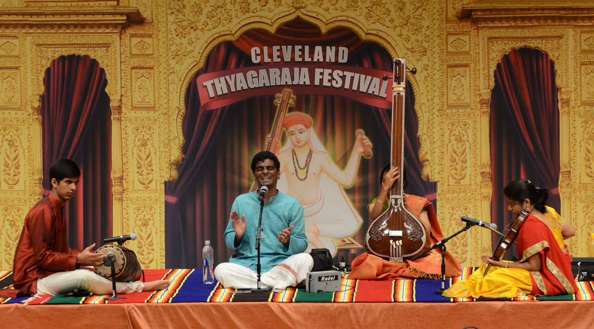 With Sri. Bharath Kumar (voice), disciple of Vid. Sanjay Subrahmanyan and Apoorva Krishna (violin); 2015 Cleveland Thyagaraja Festival at Cleveland State University