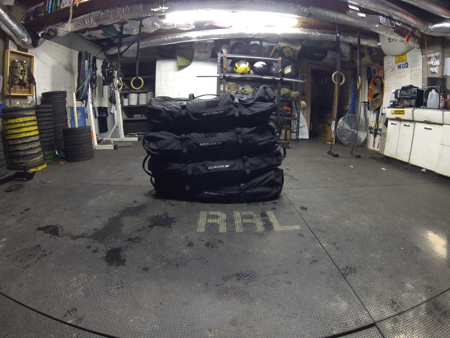 """120 lb Goruck Sandbags ready to crush our souls and make us cry """"Uncle"""""""