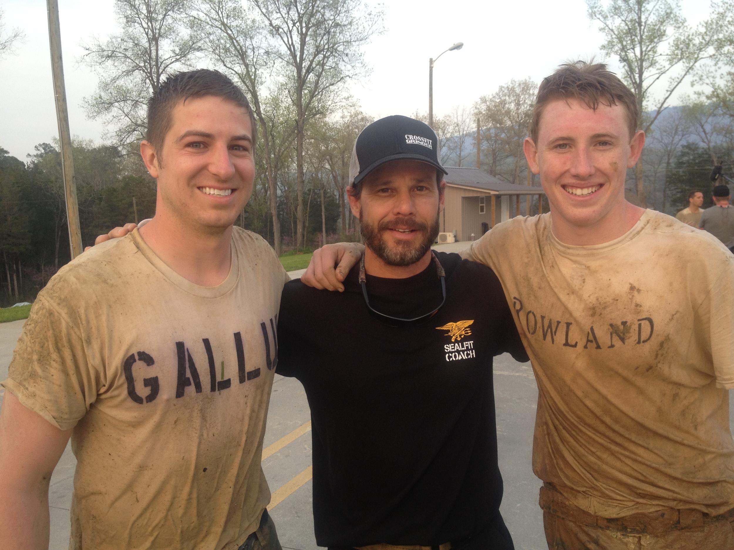 Jordan with Brad McLeod and Turner Rowland celebrating a successful finish