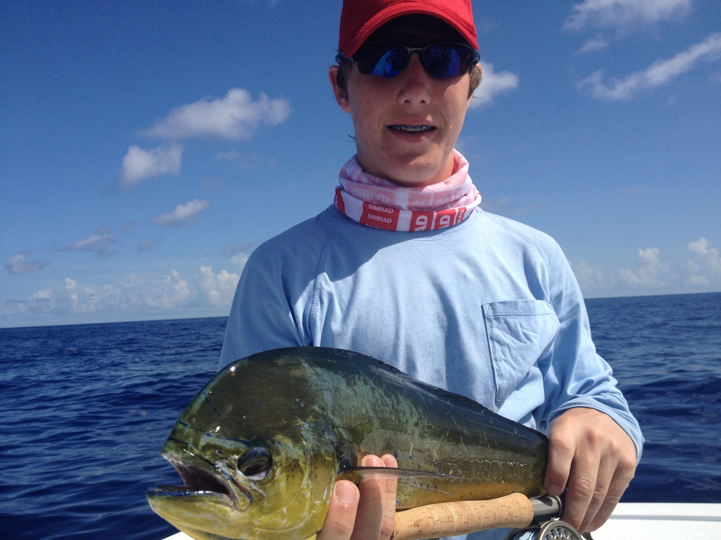 First Dolphin on fly for Hayden