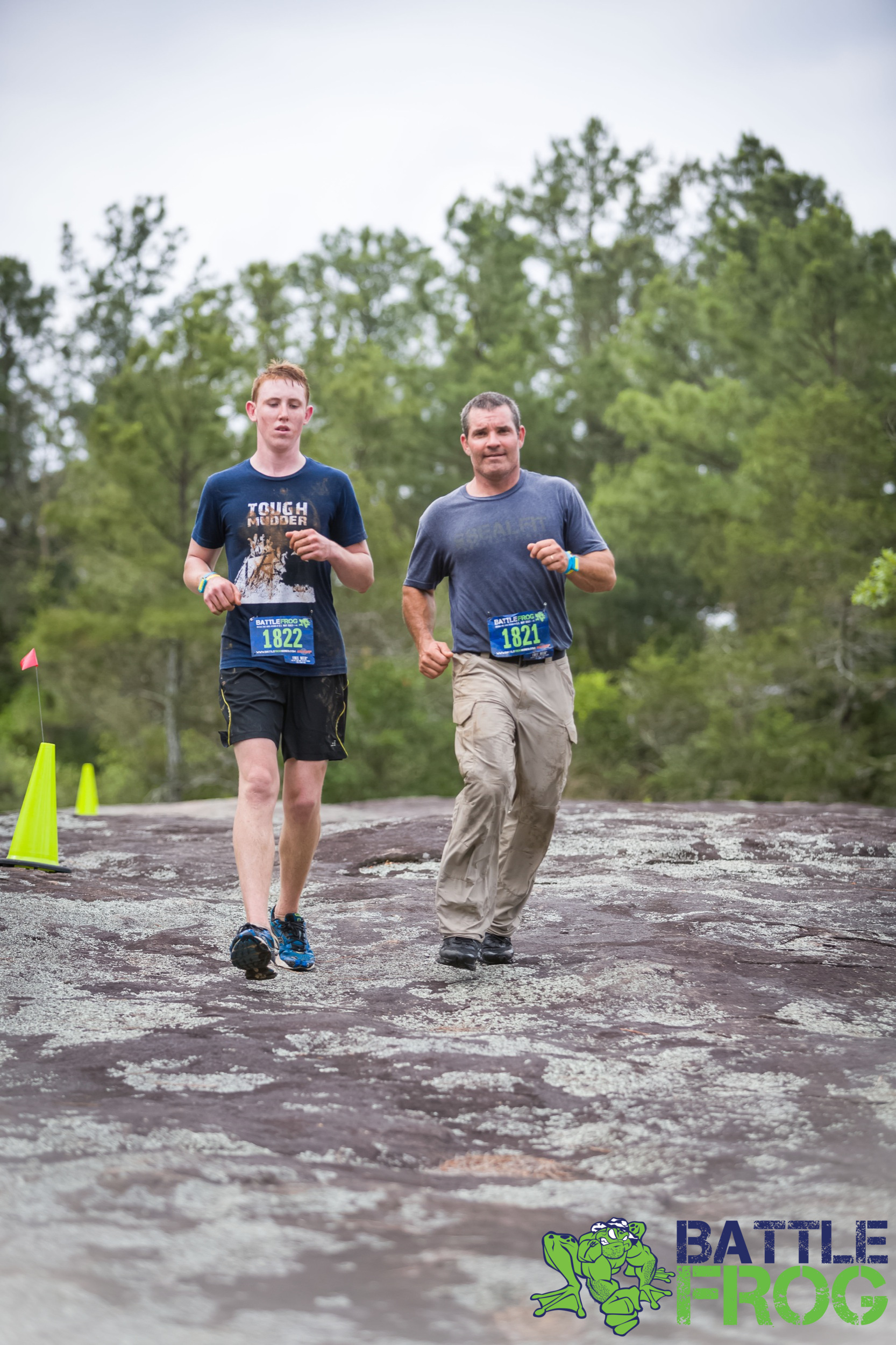 Me and my son, Turner, running the Battlefrog, 15K obstacle course