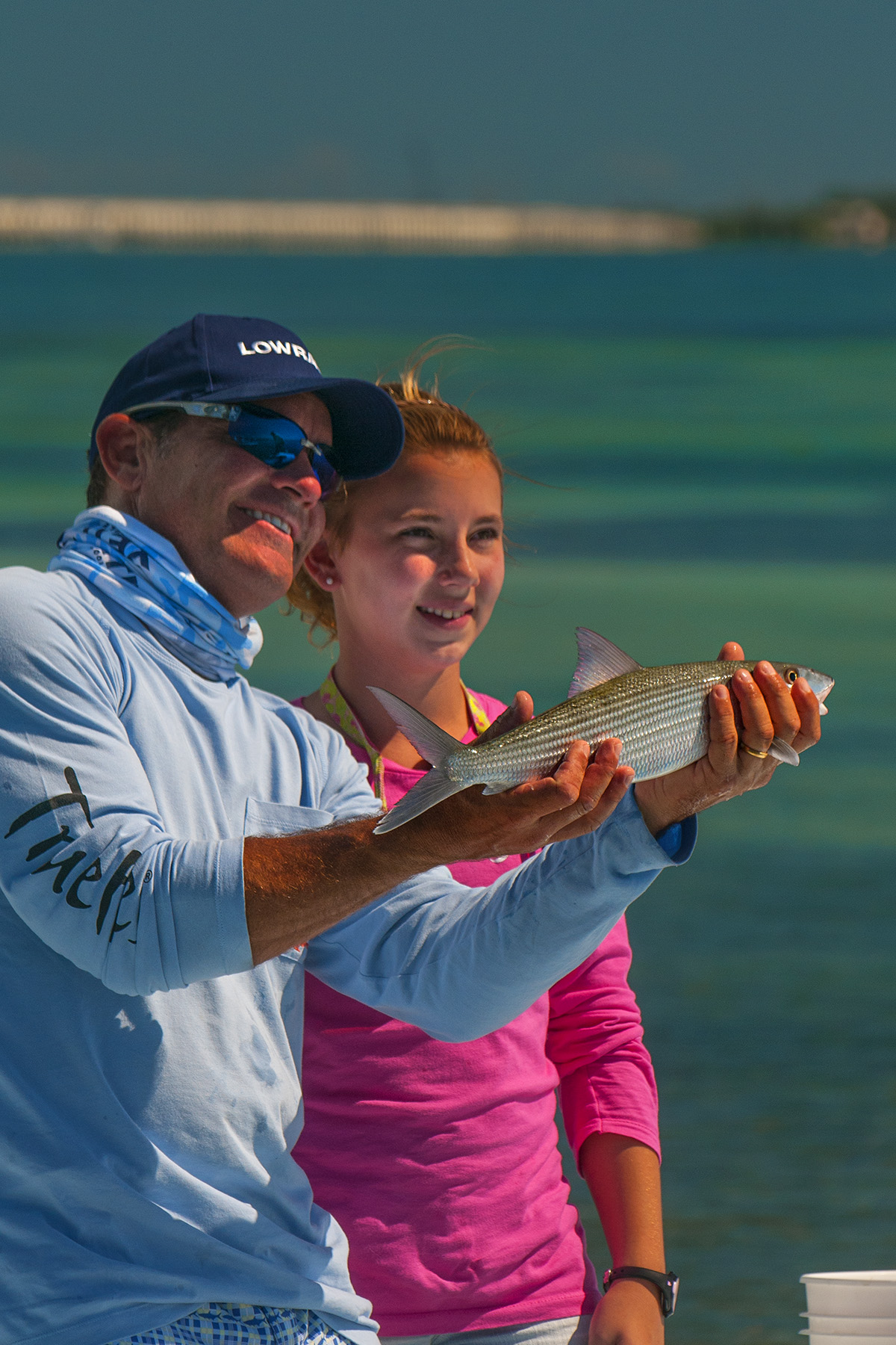 Hanna with her first ever bonefish!!