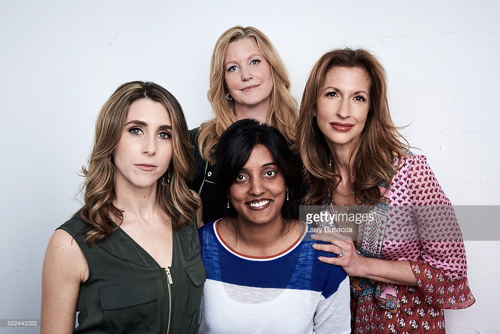 Sarah Megan Thomas, Ninna Gunn, Alysia Reiner, and director Meera Menon