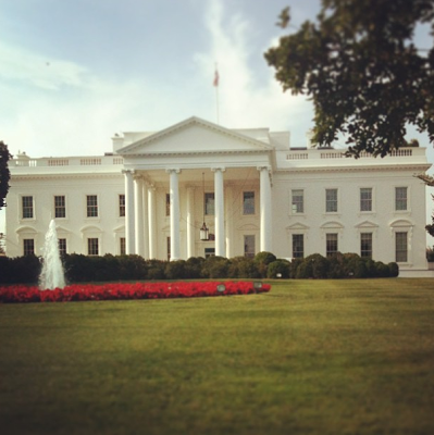 the White House, onecarryon Instagram