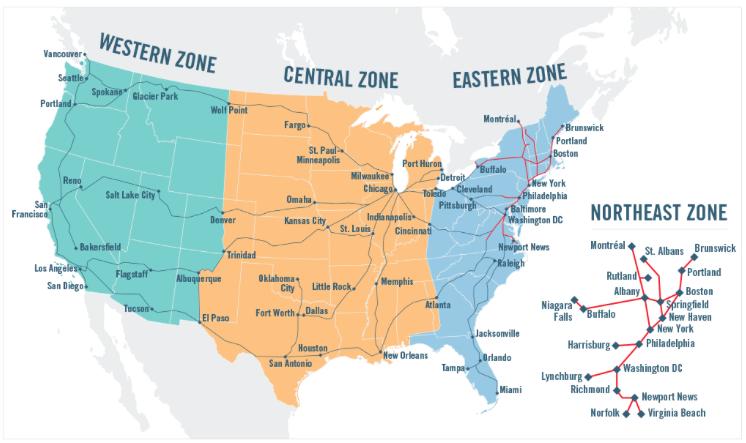 amtrak reward zone map.png