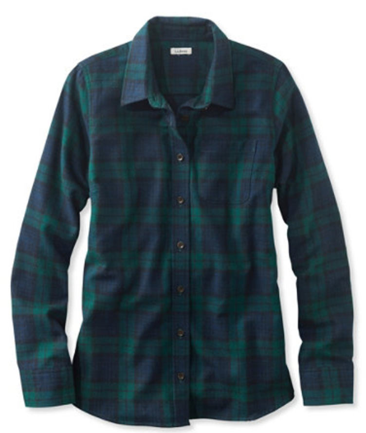 L.L. Bean Scotch Plaid Shirt (Slightly Fitted)