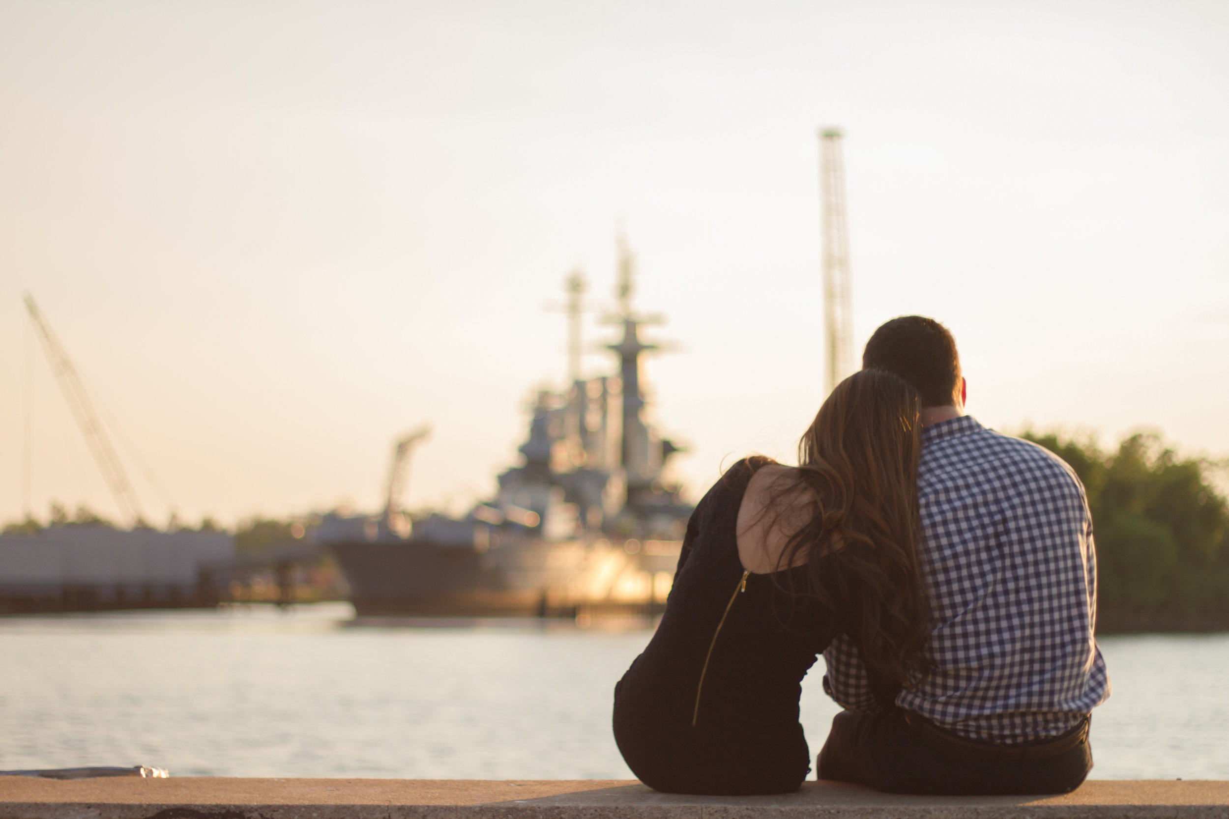 Battleship Wilmington NC Engagement Photos