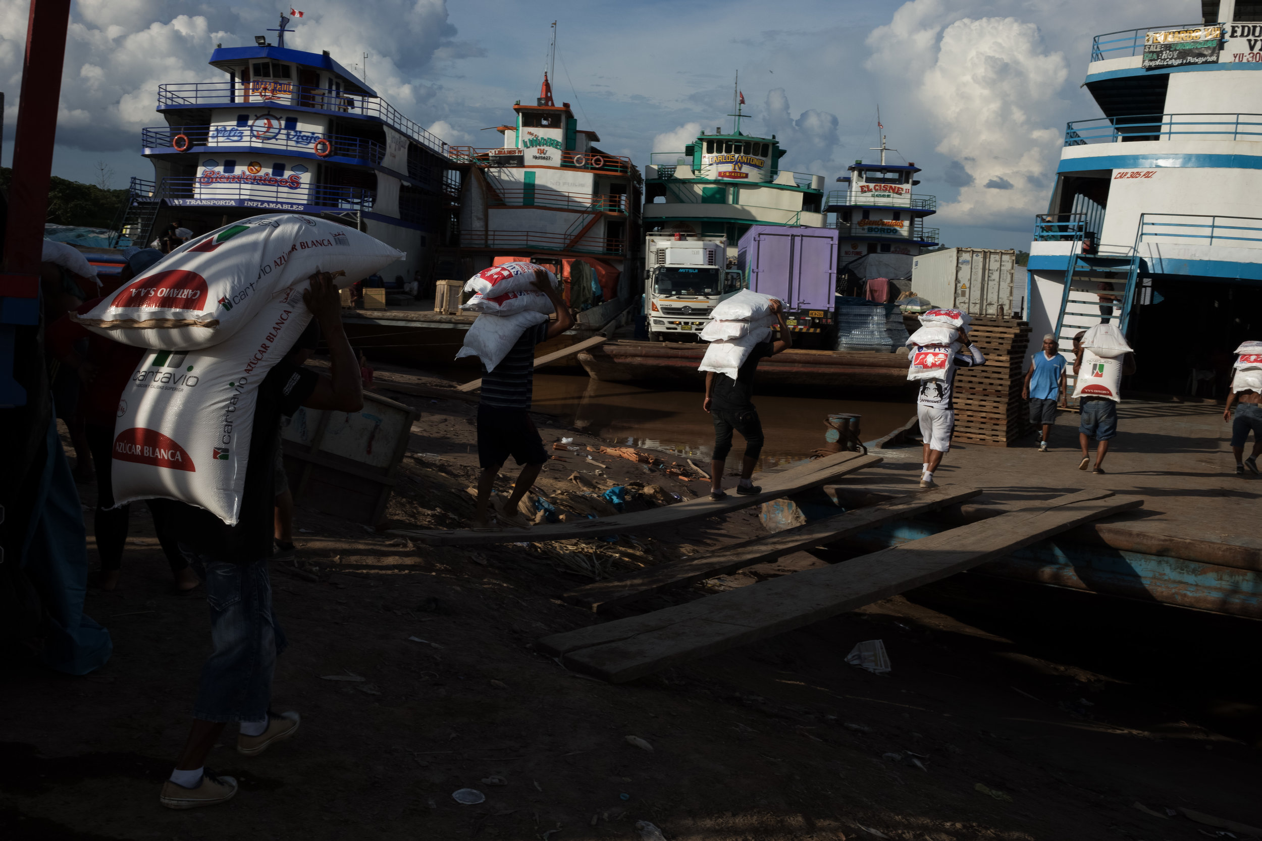 Workers in Yurimaguas, Peru