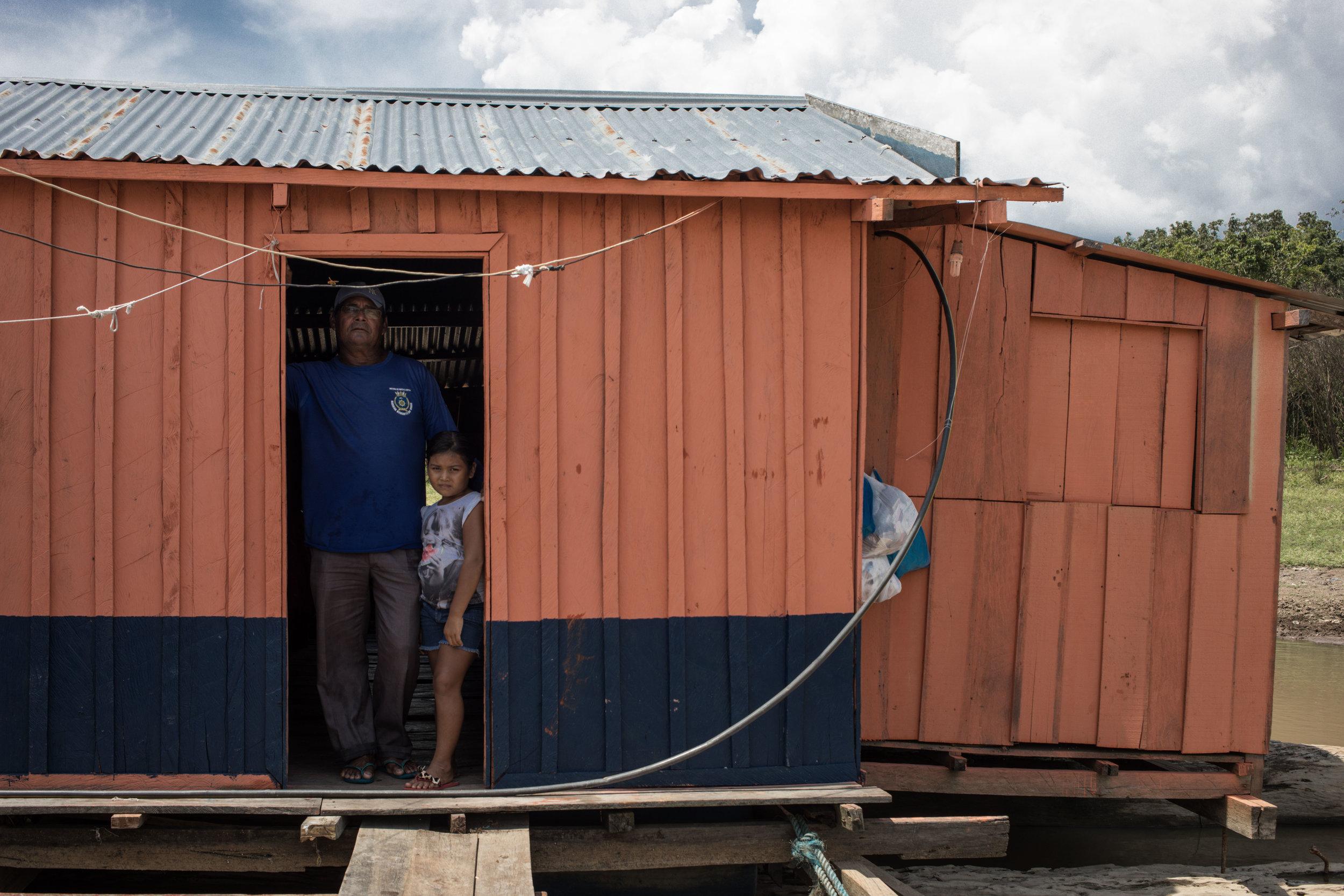 Floating Village in Manaus, Brazil