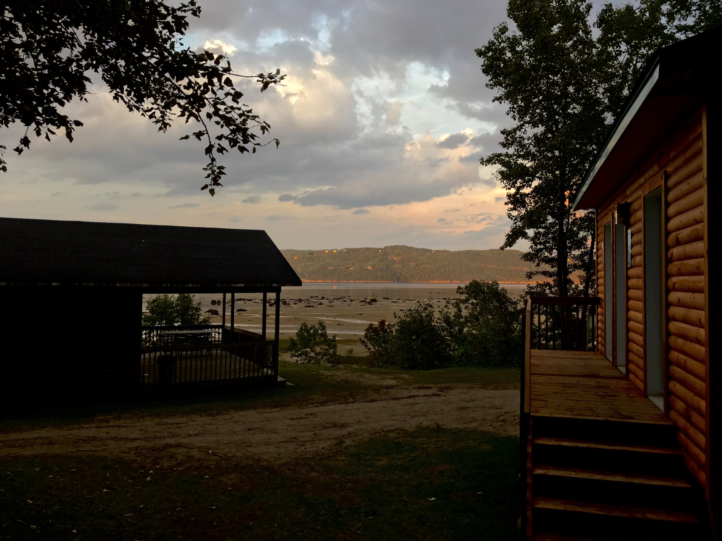 Chalets, Saguenay River, August 2017