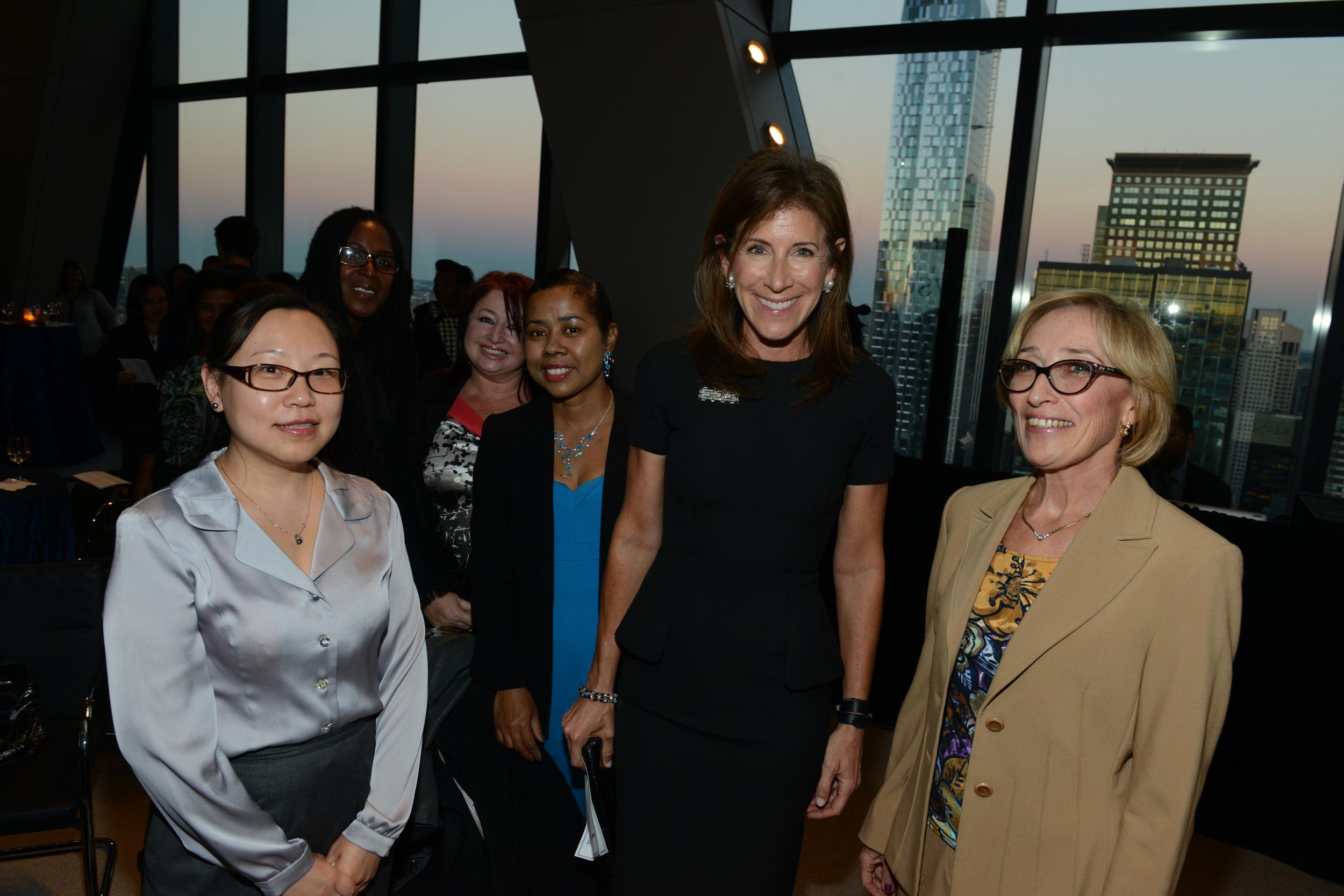 Brooklyn Public Library president, Linda Johnson, and staff