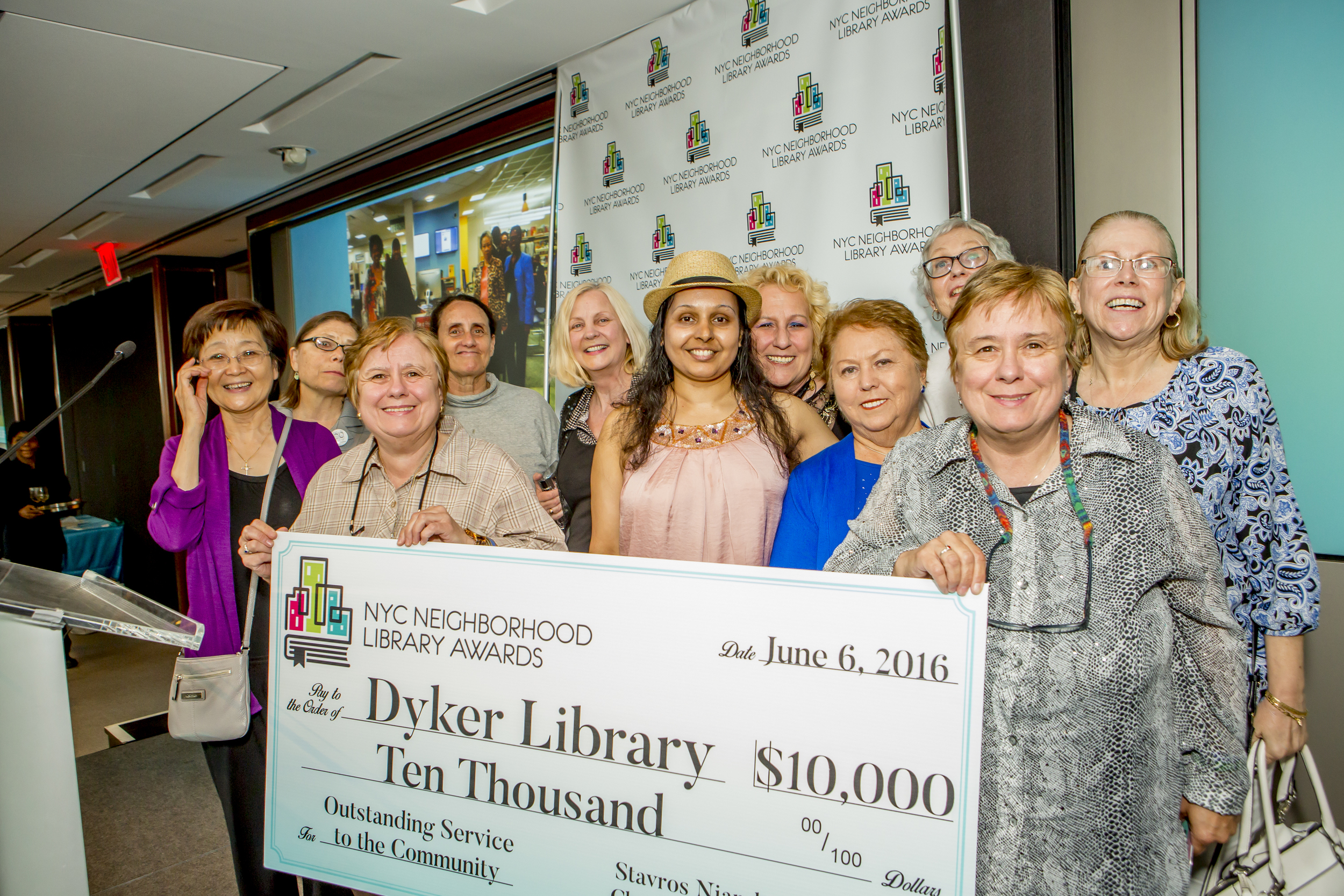 Staff Members and Patrons of the Dyker Library