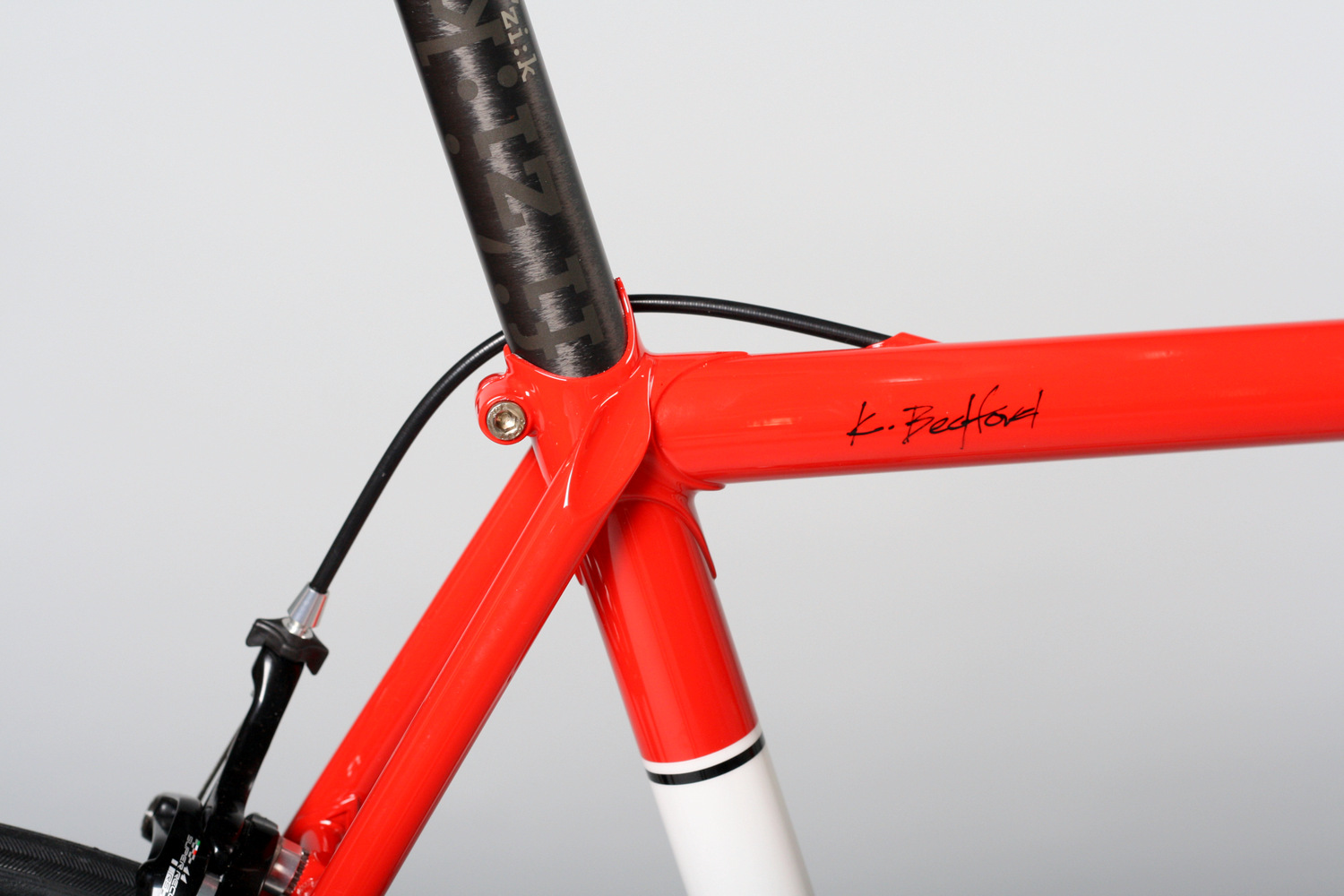 Lugged Steel Road in Comp Red with Super Record RS Build