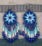 Item # 398K- Southwest Beaded Morning Star Rosette Earrings