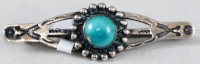 Item # 606A-Vintage Navajo Turquoise Crossed Arrows Sun Stamped Brooch/Pin