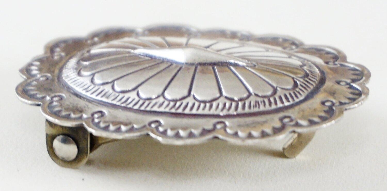 Antique Sterling Silver Finish Southwestern Belt Buckle
